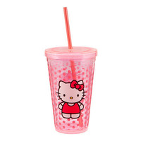 Hello Kitty Acrylic Travel Cup Hot Cold with Straw Sanrio Mug Vandor