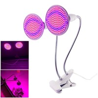 Dual 200 Led Plant Grow Light bulb Lamp Desk Clip Holder set for Flower Vegetable Indoor Seeds Growing greenhouse hydroponics