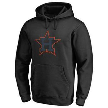 Houston Astros MLB Black Fastball Fleece Pullover Hoodie