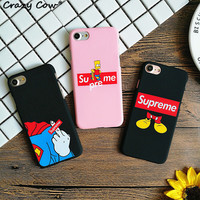 Fashion Supreme Simpson Mickey Mouse Superman Finger Phone Cases For iPhone 5 5s Se 6 6s Plus 7 7Plus Hard PC Coque Funda Cover