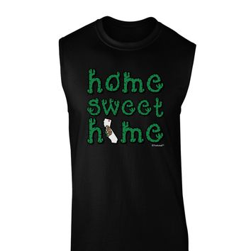 Home Sweet Home - California - Cactus and State Flag Dark Muscle Shirt  by TooLoud
