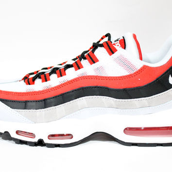 Nike Men's Air Max 95 Red/Gray/White Running Shoes 749766 601