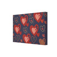 Multi-heart pattern stretched Canvas