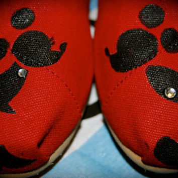 M & M Silhouette TOMS by ShoeDesignsByAllison on Etsy