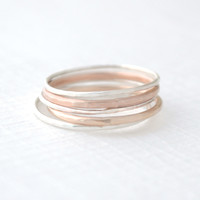 Mixed Stacked Rings Set
