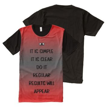 Regular Quote by Kat Worth Men's All-Over-Print T-Shirt