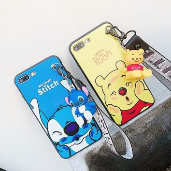 Cute 3D Cartoon Phone Case For iPhone 5 5s SE 6 6s 7 8 Plus X Doraemon Winnie  Pooh Minnie Mickey Mouse Silicone back Cover