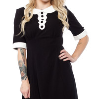 HELL BUNNY MAGPIE MINI DRESS