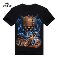 Hip Hop T shirt Men Tshirt T-shirt 3D Sickle Skulls Motorcycle Shackle Printed Casual-shirt Mens Casual Clothes Tee 3XL