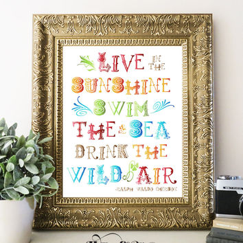 LIVE IN THE SUNSHINE - Typography Art Print