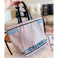 CELINE 2019 new beach bag canvas bag female shoulder bag large capacity tote bag