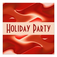 lovely red Holiday Party Invitation