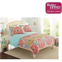 Better Homes and Gardens Quilt Collection, Jeweled Damask - Walmart.com