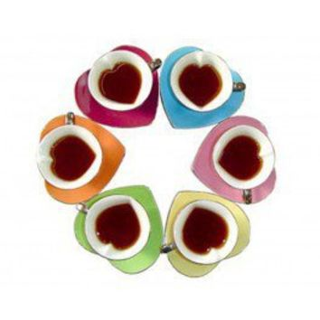 heart cups and saucers