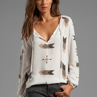 BB Dakota Jami Fletcher Printed Top in Dirty White from REVOLVEclothing.com