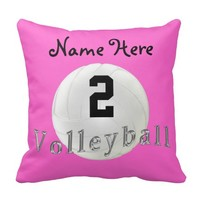 Jersey NUMBER, NAME, MONOGRAM Volleyball Pillows