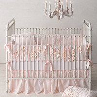 Washed Appliquéd Fleur Nursery Bedding Collection | Restoration Hardware Baby & Child