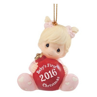 Precious Moments Baby's First Christmas 2016 Porcelain Bisque Ornament