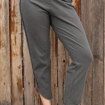Tulip Straight Pant - Solid Silver by Cynthia Ashby