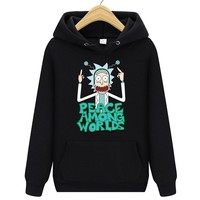 new hoodies men sweatshirts men rick and morty 2018 autumn jacket Baseball pullover streetwear lil peep hip hop printing
