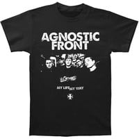 Agnostic Front Men's  Band Black T-shirt Black