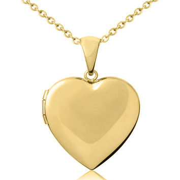 Engravable Heart Shaped Photo Locket - Sterling Silver, Yellow or Rose Gold Overlay - Engrave Your Name,  Initials or Message