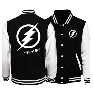 The Flash Jacket Men Skull Hip Hop Baseball Uniform Batman Deadpool The Punisher Jackets Finding Francis Joker Heath Ledger Coat