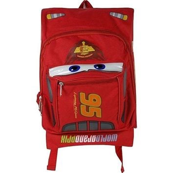 Disney Cars 3 Mcqueen 12 IN School Backpack 3D Shape Backpack For Kids