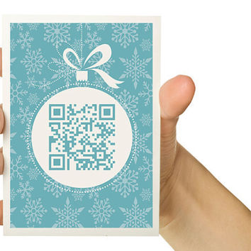 QR Code Christmas Card Personalize with your own by TheWallaroo