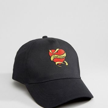 Reclaimed Vintage Inspired X Romeo & Juliet Baseball Cap With Heart Quote Embroidery at asos.com