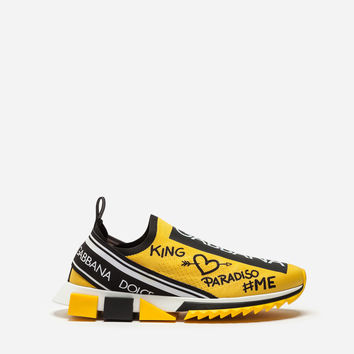 New Arrivals Men's Shoes | Dolce&Gabbana - GRAFFITI PRINT SORRENTO SNEAKERS