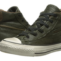 Converse by John Varvatos All Star Zip Scratched Leather Forest Night - 6pm.com