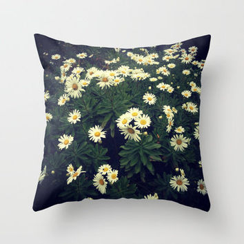 Daisy Throw Pillow by Katie Nemeth Photography