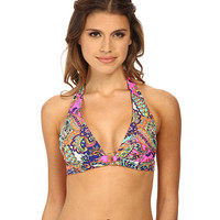 Shoshanna Ring Halter Top Neon Pink Multi - 6pm.com