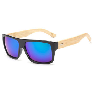 Bamboo Style Wooden Sunglasses Summer Fashion