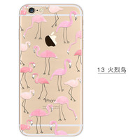 Lots of Pink Flamingos Phone Case For iPhone 7 7Plus 6 6s Plus 5 5s SE