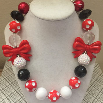 Girls Jewelry/Toddler/Baby/Necklace-Bracelet Set/Chunky Necklace/Bubble Gum Beads/Gift Giving/Christmas Gift