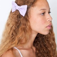 American Apparel Small Bow Hair Clip -Heirloom Lilac Poly