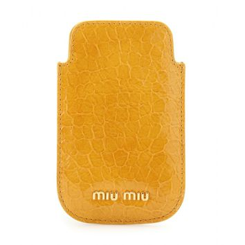 miu miu - snake embossed patent leather iphone case
