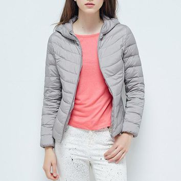 women's clothing women winter down coat female down jacket with hood high quality ultra light jacket bag