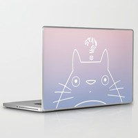 Stay Curious | Serenity & Rose Quartz Laptop & iPad Skin by Miss L In Art