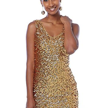Shake Your Body Sequin Mini Dress