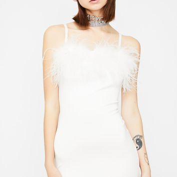 Invitation Only Marabou Dress