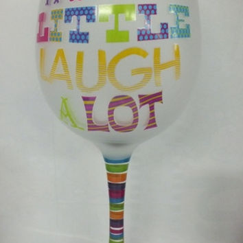 16 oz. Frosted Wine Glasses - Wine a Little