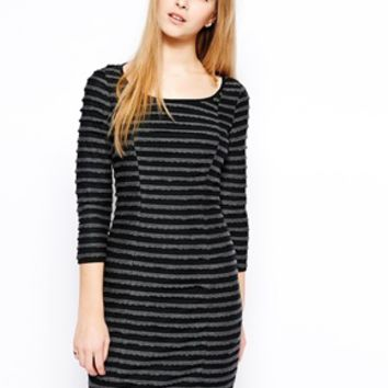 Yumi Scalloped Dress - Black