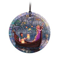 Tangled Stained Glass Effect Thomas Kinkade Glass Ornament - StarFire Prints - Tangled - Holiday Ornaments at Entertainment Earth
