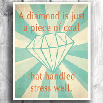 inspirational print/poster digital illustration wall decor typography quote art digital print wall sign motivational print 11x14 Typography