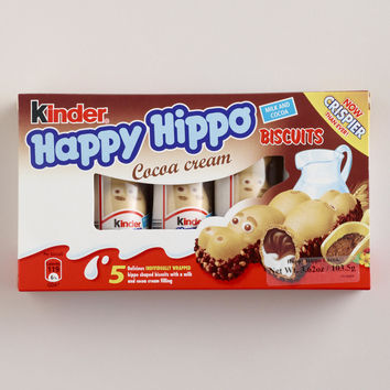 Kinder Happy Hippo Cocoa Biscuits, Set of 5 - World Market