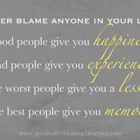 Never Blame Anyone in Your Life Quote in 4x6 5x7 by SprinkledJoy