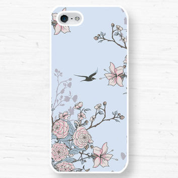 Vintage Floral Bird iPhone 5 4 Case  Samsung by CaseOfIdentity
